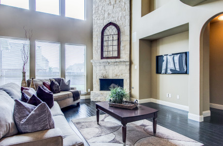 Family Room in a Real Estate Investment Property